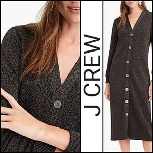 🆕️NWT. J CREW Sparkly Fitted Cardigan Dress!